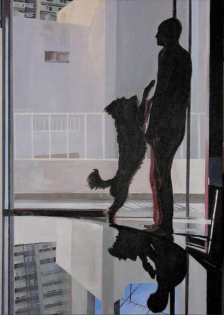 Giorgos saltaferos, acrylics 100x70 cm 2013