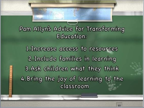Pam Allyn's tips for transforming education