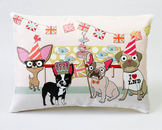 Dog Street Party Cushion Queen's Coronation by senorpicklesworth...i want this pillow!!! NOW! lol: Street Party, Diamond Jubilee, Queens, Party Dogs, Diamonds, Parties, Dog Streetparty, Cushions, Dogs Cushion