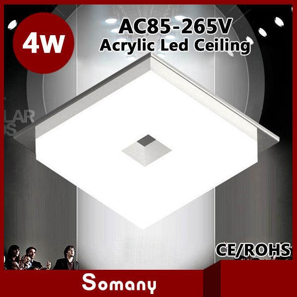 2014 Novelty Households Recessed Lights Dull Polish Acrylic Modern Led Ceiling Light 3W Round 4W Square Bedroom Led Down Light >>> Learn more by visiting the image link.
