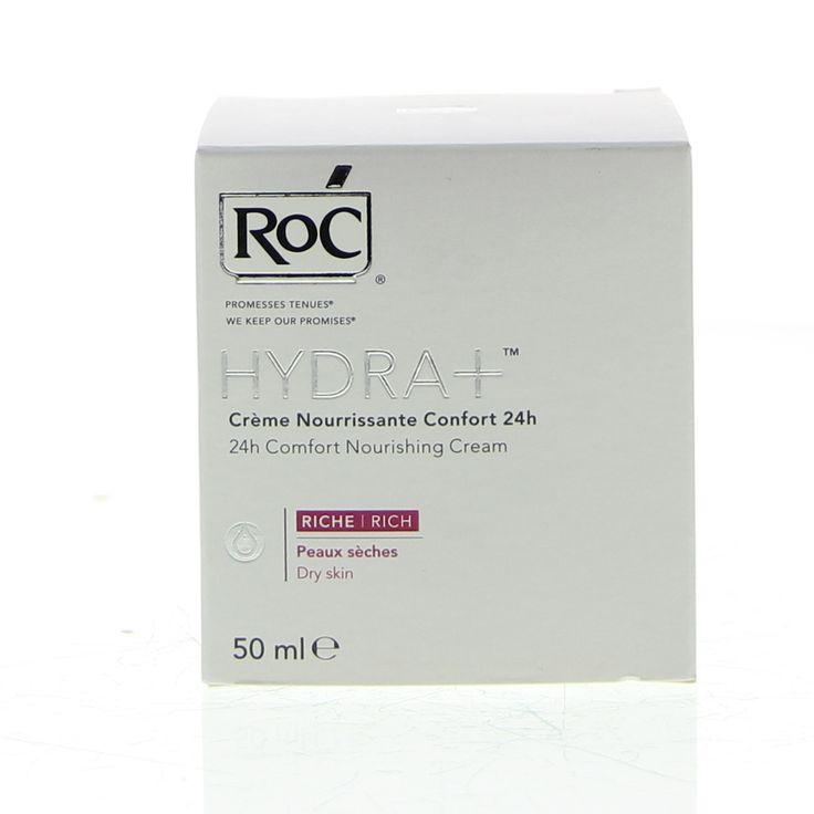 RoC Hydra 24H Comfort Nourishing Cream Rich Crème Hydratatie 50ml  Description: RoC Crème Nourrissante Confort 24H Riche - Comfort Hydraterende Crème 24H Rijke Textuur. Om je huid soepel en stralend te houden is het belangrijk tweemaal per dag te hydrateren. Hydratatie houdt je huid langer gezond vertraagt zichtbare huidveroudering en beschermt je huid tegen vochtverlies en invloeden van buitenaf. De HYDRA-crèmes combineren het hydraterende ingrediënt Hydrovance met mineralen en…