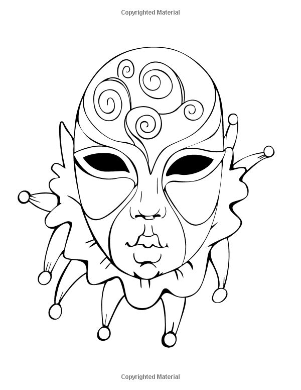 AmazonSmile Venetian Masks Coloring Book For Adults 9781505642612 Celeste Von Albrecht