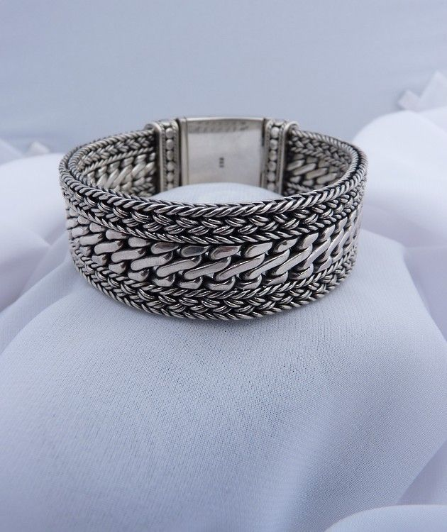 Handcrafted Silver Mens Bracelet | Stand out from the crowd