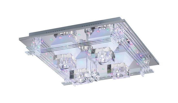 Paul Neuhaus LED-Deckenleuchte, »METIS« silberfarben