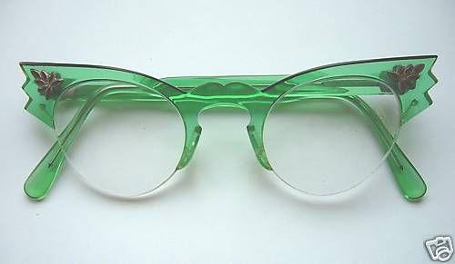 green cat eyeglassesCat Eyes, 1950S, Fashion Vintage, Cateye, Vintage Frames, Eyewear, Vintage Green, Eyeglasses, Cat Eye Glasses