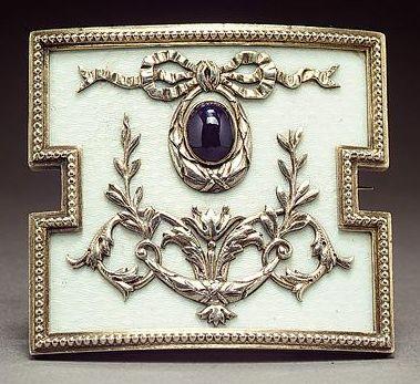 A Fabergé enamel plaque, Moscow, circa 1900