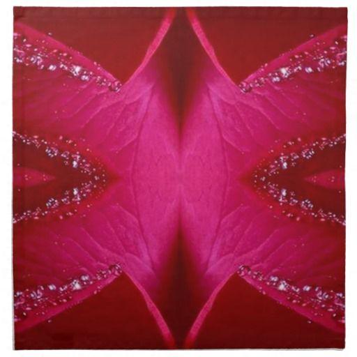 Dream Catcher Art - Rose Petal Graphics Printed Napkin