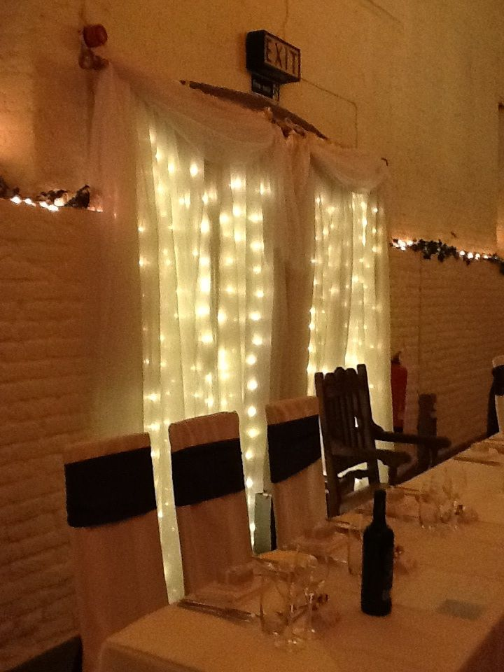 Beautiful fairy light curtain from Blue Orchid events at Ufton Court.