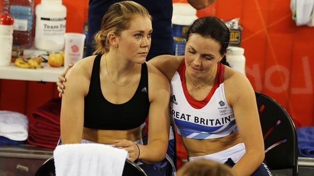 Jess Varnish and Victoria Pendleton - London 2012 Olympics