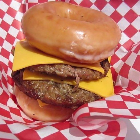 The Krispy Kreme Triple Cheeseburger at the San Diego Fair | 25 Fried Foods You Have To Try Before You Die