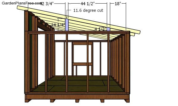 10x12 Lean To Shed Plans Pdf Download Free Garden Plans How To Build Garden Projects Shed House Plans Shed Plans Lean To Shed Plans