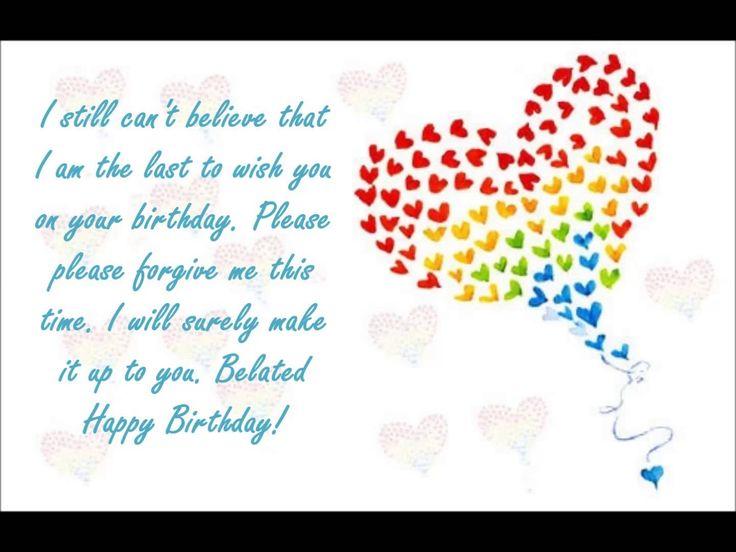 Belated Birthday Wishes ........Via Wallpapersidol.com