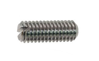 Stainless Steel Slotted Set Screws DIN 551 - Alloy Trade, Manufacturers and Exporters of Stainless Steel Slotted Set Screws DIN 551, Suppliers of Stainless Steel Slotted Set Screws DIN 551, Slot Counter sunk screws, Stainless Steel Fasteners, Stainless Steel Bolts / Machine Screws, Stainless Steel Nuts