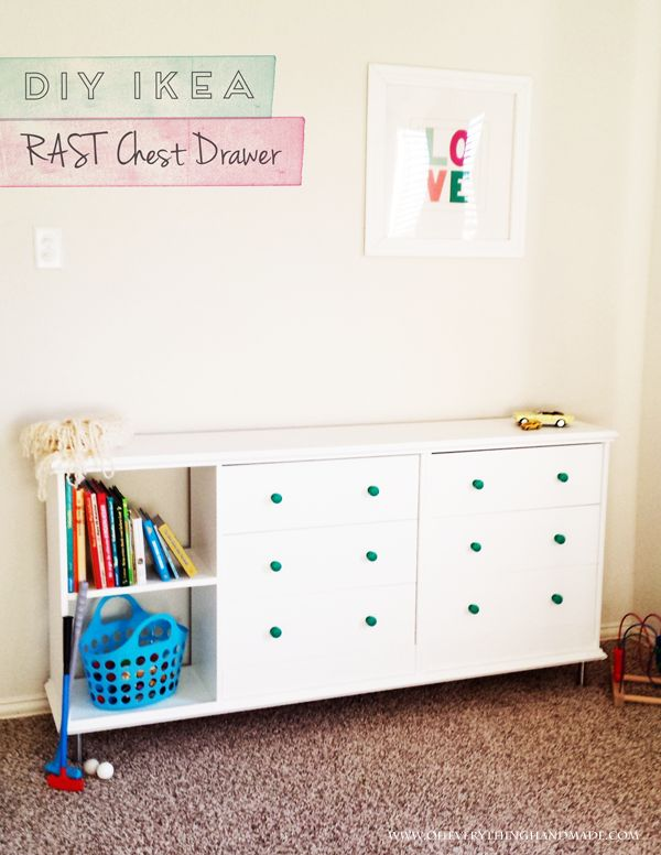 Ikea RAST chest of drawers  painted  fitted with new hardware  expanded  with an. 52 best IKEA  drawer chest hacks  HELMER  HEMNES  MALM  RAST