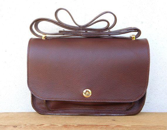 SOFFIETTO IN BROWN | borsa in pelle fatta a mano | Handmade in italy | Borsa a tracolla | Borsa in pelle marrone ! Borsa a scomparti