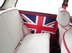 1980 Mini Cooper Union Jack interior