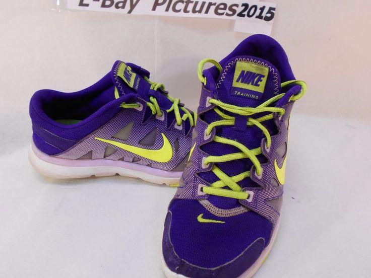 Womens NIKE Trainer Running Shoes -Neon green Purple -trainer racer -Sz 8.5 Used #Nike #RunningCrossTraining
