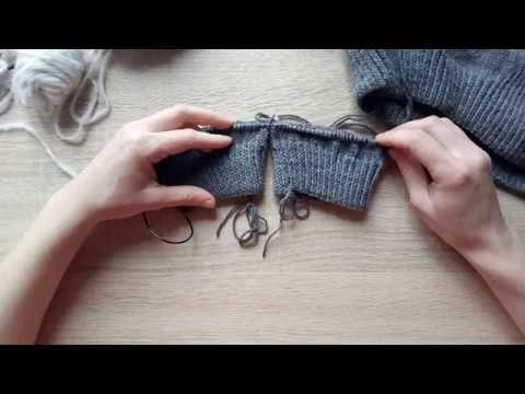 Вязание двух рукавов способом magic loop