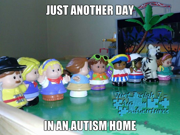 Just Another Day In An Autism Home Lining Up Toys