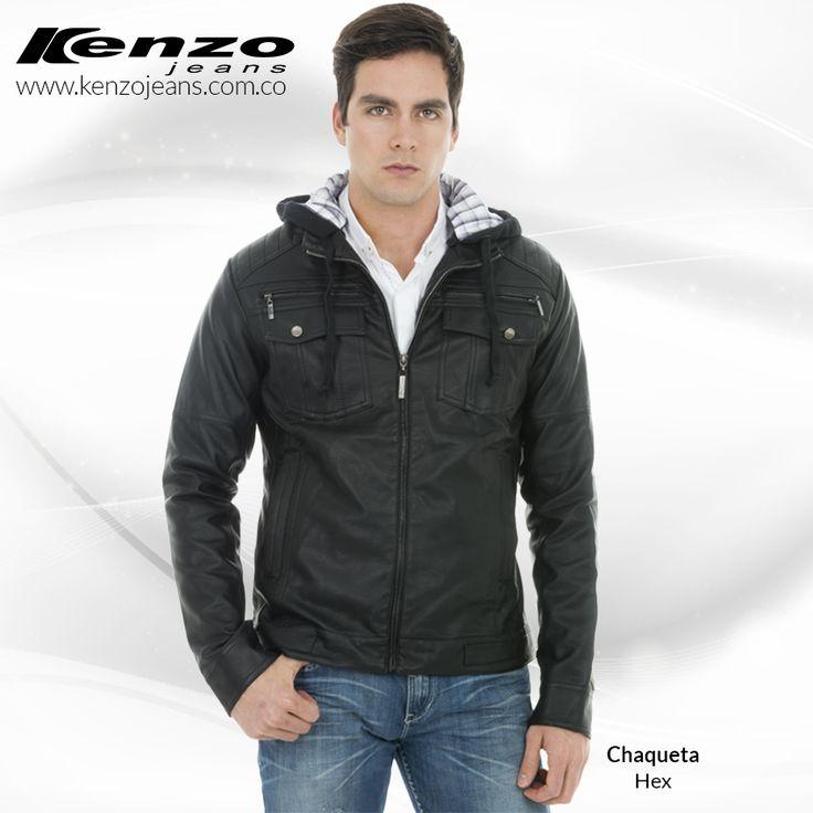 Si quieres un #look moderno, original, casual y masculino, esta chaqueta es ¡perfecta para ti! #KenzoJeans más en www.kenzojeans.com.co
