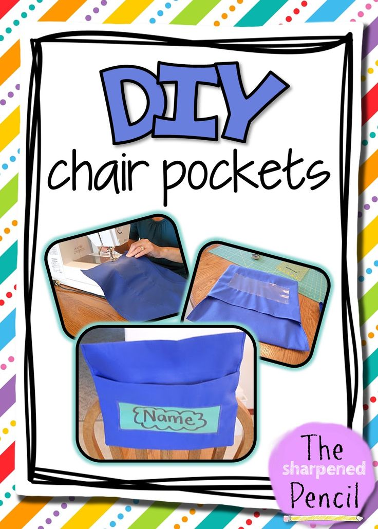 The Sharpened Pencil: DIY Chair Pockets