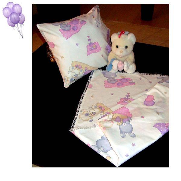 bebek kundağı ve yastığı