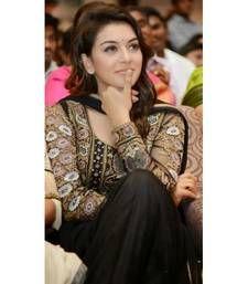 Buy HANSHIKA MOTWANI BLACK ANARKALI SUIT bollywood-salwar-kameez-online online