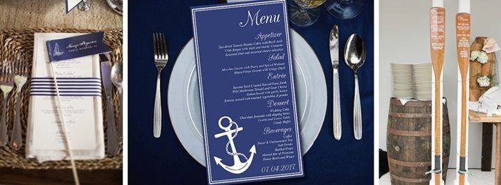 weselne menu - motyw marynistyczny