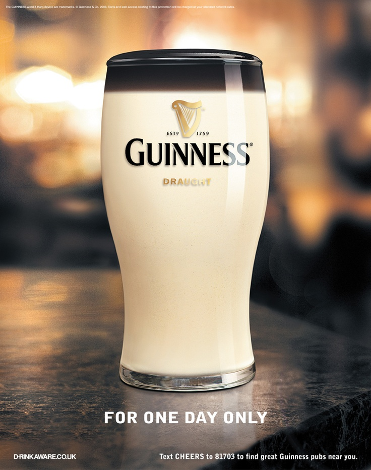 Guinness April Fool  – Print Art Direction by Catherine Lennon