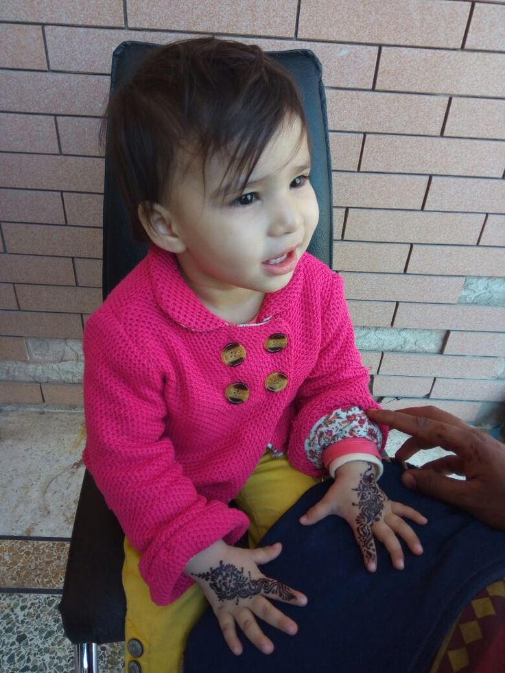 Niece getting her first henna tattoo