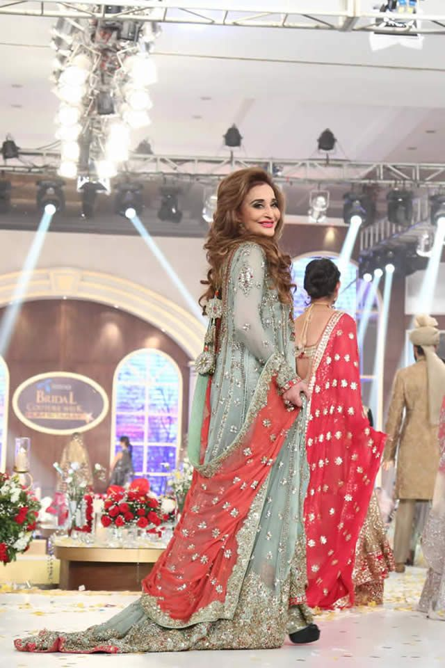 TBCW 2015 Honey Waqar Bridal Dresses Pakistani couture