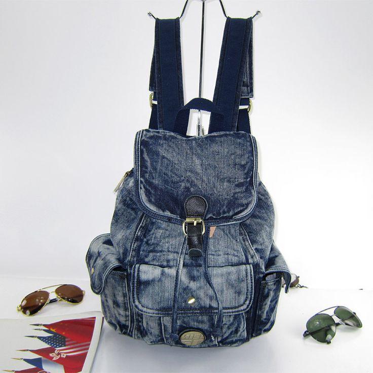Стиль джинсы женщины рюкзак подросток школа мешок путешествия рюкзаки деним mochilas женское туристический рюкзак рюкзак джинсовый женские рюкзаки