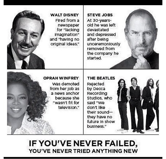 If you've never failed....The Roads, Walt Disney, Waltdisney, Inspiration, Quotes, Motivation, Famous Failure, Steve Job, Michael Jordan