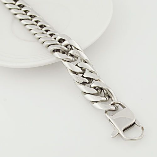 Продажа Акция! мода серебряный браслет 17 мм 23 см нержавеющая сталь, приятные глазу, панк запад стиль, ювелирные ссылка для мужчины VB309