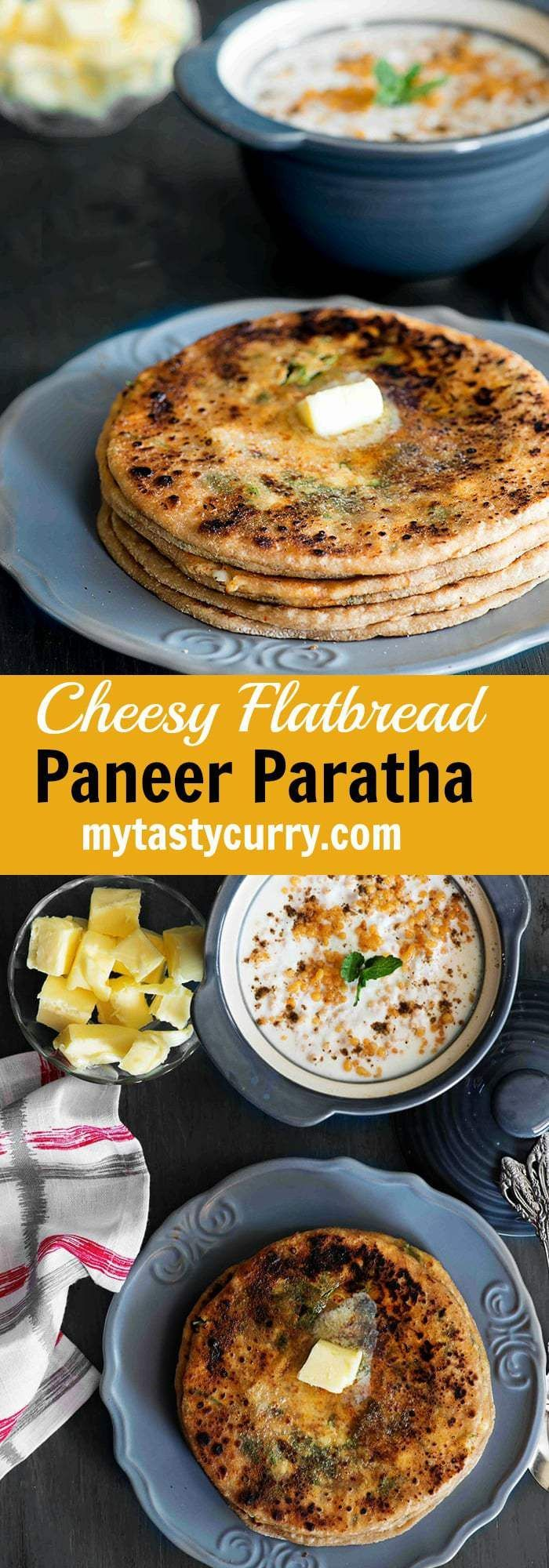 Paneer paratha is simple Indian flat bread with the stuffing of delicious mix of grated paneer and spices in whole wheat dough, which is then shallow fried to golden perfection and served hot. Learn how to make perfectly spicy and crispy punjabi style Paneer paratha with this recipe