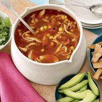 Skinny Tortilla Soup w/ Avocado