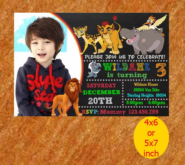The Lion Guard Invitation, The Lion Guard Birthday, The Lion Guard Party, The Lion Guard Printable by naharululyaART on Etsy