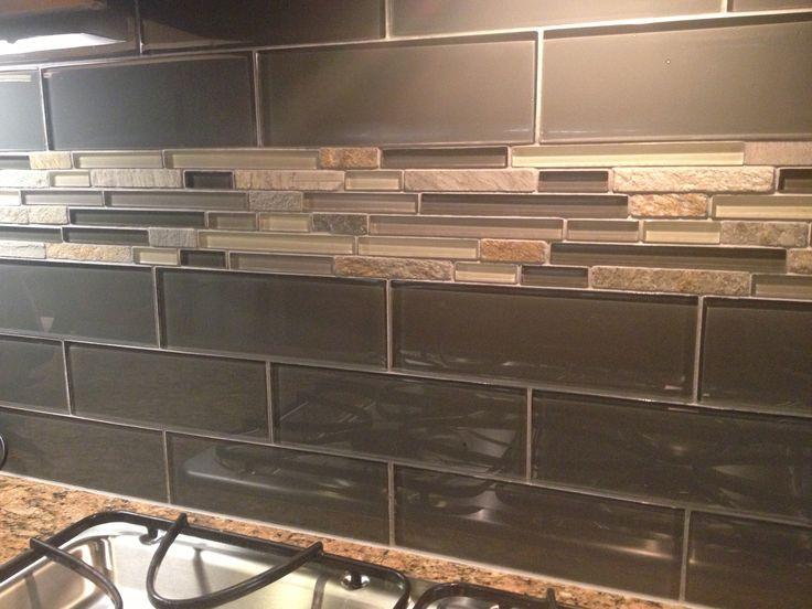 Kitchen Backsplash Silver Aspen Mosaic With Glass Tile I