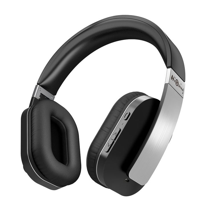 HiGoing Bluetooth Headphones Over Ear Foldable Active Noise Cancelling Headset with Mic Hi-Fi Stereo Headphone Wireless/Wired for iPhone Android Cellphone TV PC Laptop, Black