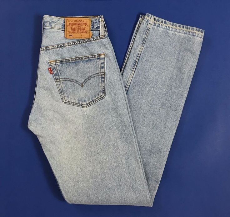 Levis 501 W31 L34 tg 44 46 jeans uomo usato boyfriend blu dritti straight T1161