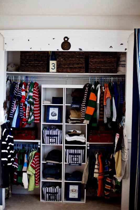 art boys closet ideas kidsroom organize in