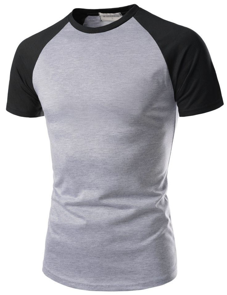 (NKRST622) Unisex Slim Fit Casual Round Short Sleeve Contrast Raglan Tshirts