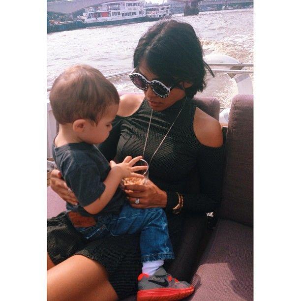 Mariqueen and her son Balthazar