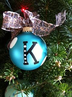 DIY: Monogram Ornaments