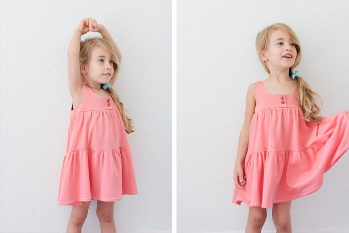 comfy knit dress tutorial and free pattern
