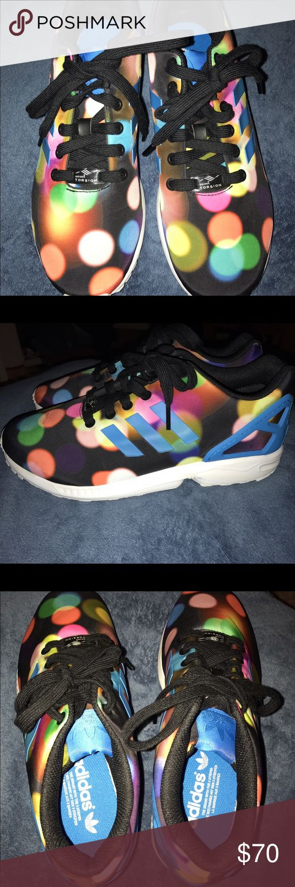 Adidas ZX Flux multicolor sneakers NWOT Adidas ZX Flux running sneakers. Multicolored, great condition. Size 8. Worn literally one time. Willing to negotiate a price. Adidas Shoes Sneakers