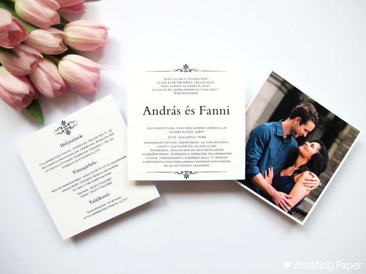 Esküvői meghívó – Egyszerű mintás   ♥ Wedding Paper