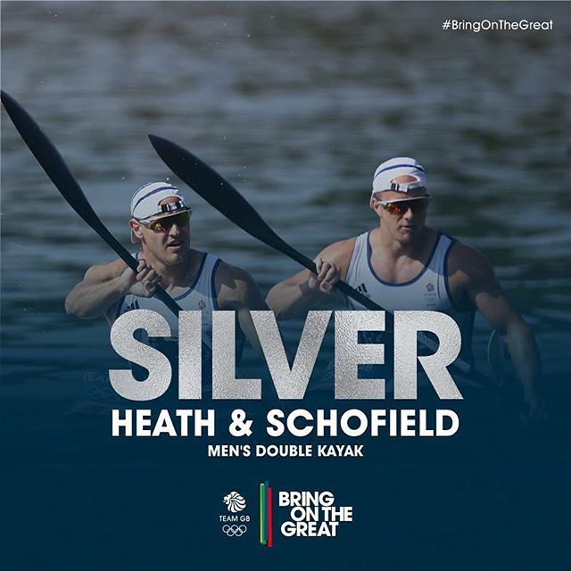 #Silver! It's fast, it's furious and Liam Heath and Jon Schofield blast their way to Olympic Silver in the Men's Double Kayak. Coming home in 32.368 #BringOnTheGreat