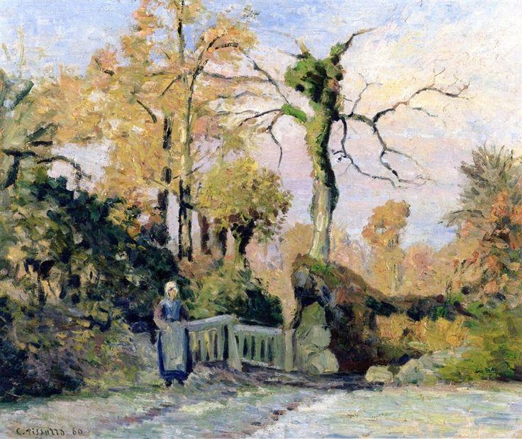 Landscape in Autumn.1880 by Camille Pissarro
