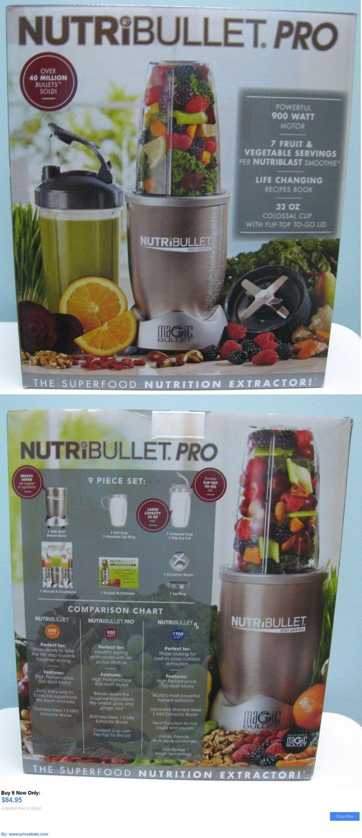 Small Kitchen Appliances: Nutribullet Pro 900 Blender Juicer Nb9-0901 9 Pc Set , New In Box BUY IT NOW ONLY: $84.95 #priceabateSmallKitchenAppliances OR #priceabate